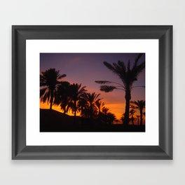 Arabian sunset Framed Art Print