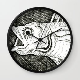 Fish with Eyelashes Wall Clock