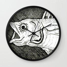Fish with Eyelashes Wall Clock
