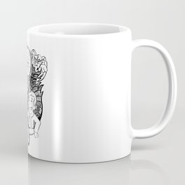 """""""War Never Changes"""" Fallout Fan Art in BLACK AND WHITE. Coffee Mug"""