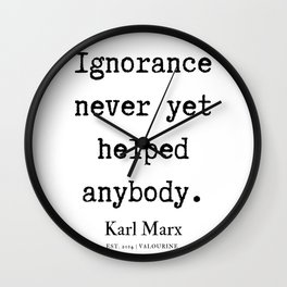 49  | Karl Marx Quotes | 190817 Wall Clock