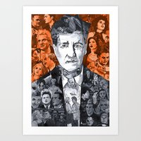 lynch Art Prints featuring Lynch  by Matthew Brazier Illustration
