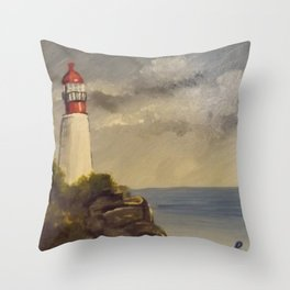 Rocky Point Lighthouse Throw Pillow