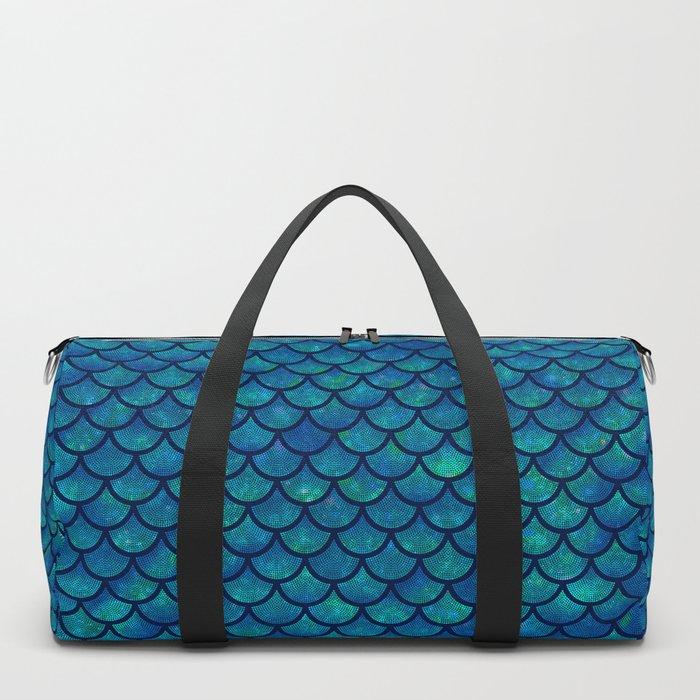 Mermaid scales iridescent sparkle Duffle Bag
