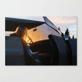 Sunrise through trees - 2016 Canvas Print