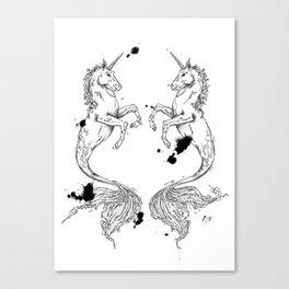 Mermaidunicorns Canvas Print