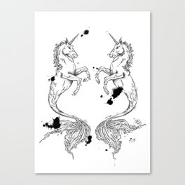 Mermaidunicorns Canvas Print