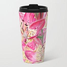 Pink lilies Travel Mug