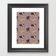 Rescue Dogs Pattern Framed Art Print
