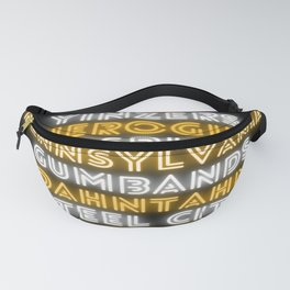 Pittsburgh Pittsburghese Funny Slang Neon Print Fanny Pack