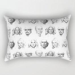 Dexter Portrait Pattern Rectangular Pillow