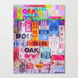 text travel Canvas Print