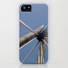 concrete and cables - modern suspension bridge - southport iPhone Case