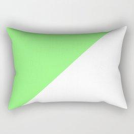 Lime/White Rectangular Pillow