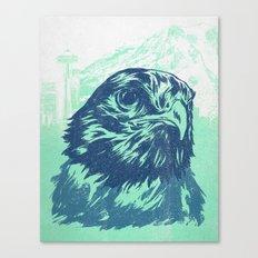 Go Hawks Canvas Print