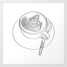 """ Kitchen Collection "" - Cappuccino Design Art Print"