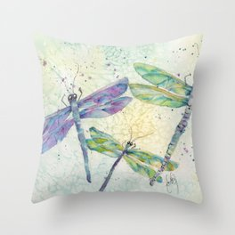 Xena's Dragonfly Throw Pillow