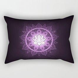 Purple Lotus Flower Mandala Rectangular Pillow