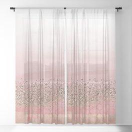 Pink Moroccan Princess Sheer Curtain