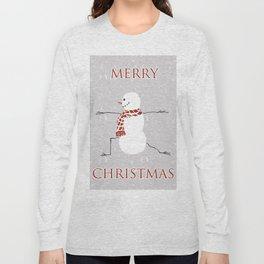 Snowman yoga - Warrior II Long Sleeve T-shirt