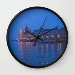The parliament in Budapest. Wall Clock