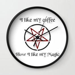 I like my coffee BLACK Wall Clock