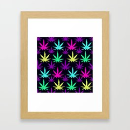 Colorful Marijuna Weed Framed Art Print