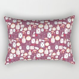 Alice in Wonderland - Purple Madness Rectangular Pillow