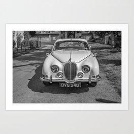 British built classic car  Art Print