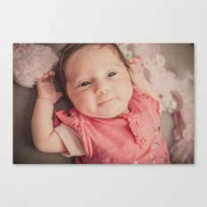 baby lila Canvas Print