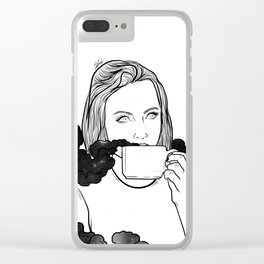 Magical coffee. Clear iPhone Case