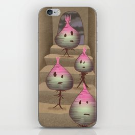 turnips descending a staircase iPhone Skin