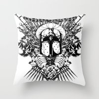 medieval Throw Pillows featuring Medieval Crusader by Tshirt-Factory