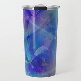 Soft  Colored Floral Lights Beams Abstract Travel Mug