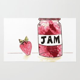 Strawberry VS Jam Rug