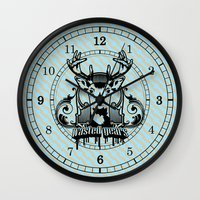 wasted rita Wall Clocks featuring wasted years by aceofspades81