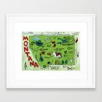 montana Framed Art Prints featuring MONTANA by Christiane Engel