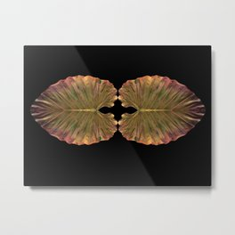 Colocasia Leaves Metal Print