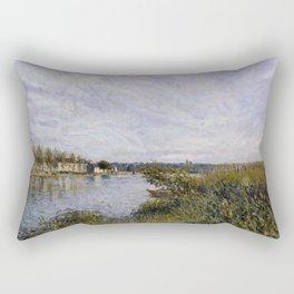 Alfred Sisley - View of Saint-Mammès, 1880 Rectangular Pillow