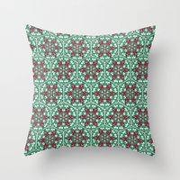 honeycomb Throw Pillows featuring Honeycomb by Paula Belle Flores