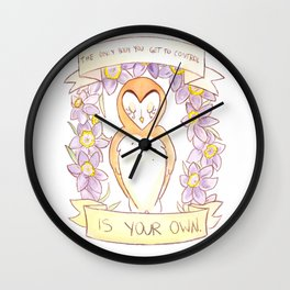 How To Be A Decent Person - Owl Wall Clock