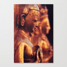 Swayambhunath Figures Canvas Print