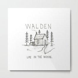 WALDEN Life in the woods Metal Print