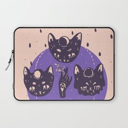 cats and the moon phases Laptop Sleeve