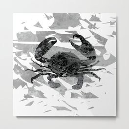 Colorful Art Crab Abstract 3 Metal Print