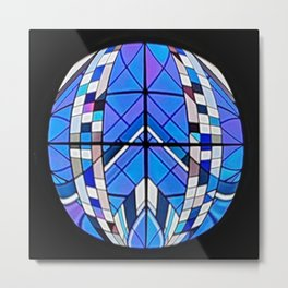 Stained Glass Ball Metal Print
