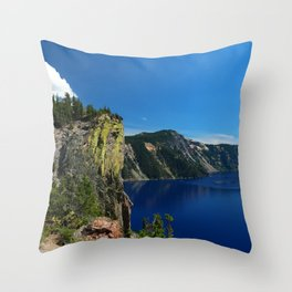 Crater Lake  and Lavacliffs Throw Pillow