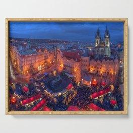 Man Made Prague Cities Czech Republic Christmas Ma Serving Tray