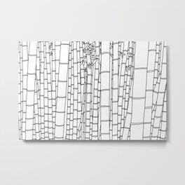 Bamboo Temple in Japan - Line Art Metal Print