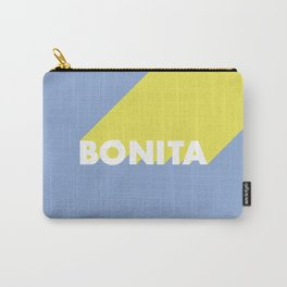 BONITA Blue Carry-All Pouch